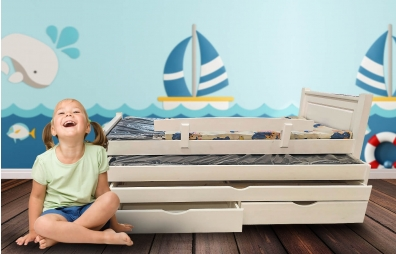 מיטה משולשת לילדים 100% עץ -  דגם האני