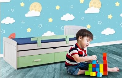 מיטת ילדים 100% עץ אורן - דגם דניאל