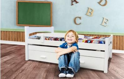 מיטת ילדים  100% עץ אורן - דגם סתיו