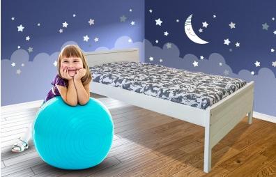 מיטת ילדים ונוער 100% עץ מלא - שלבי