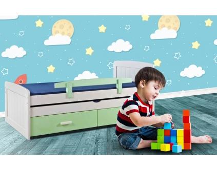 מיטת ילדים עץ אורן דניאל