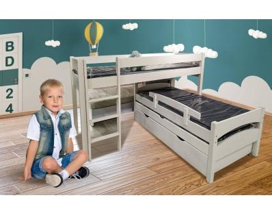 מיטת ילדים 100% עץ עליונה בלבד!!! דגם סתיו פינתית